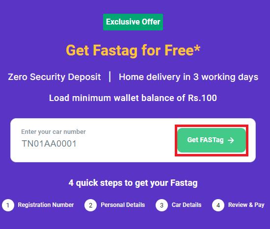 free fastag